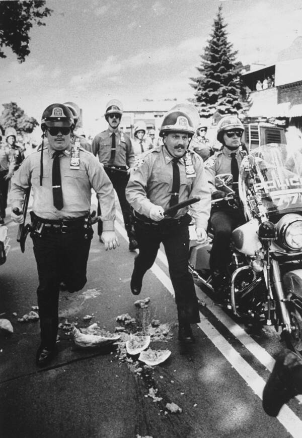 Police During The Protests