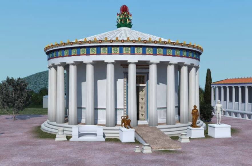 Reconstructed Sanctuary Of Asklepios