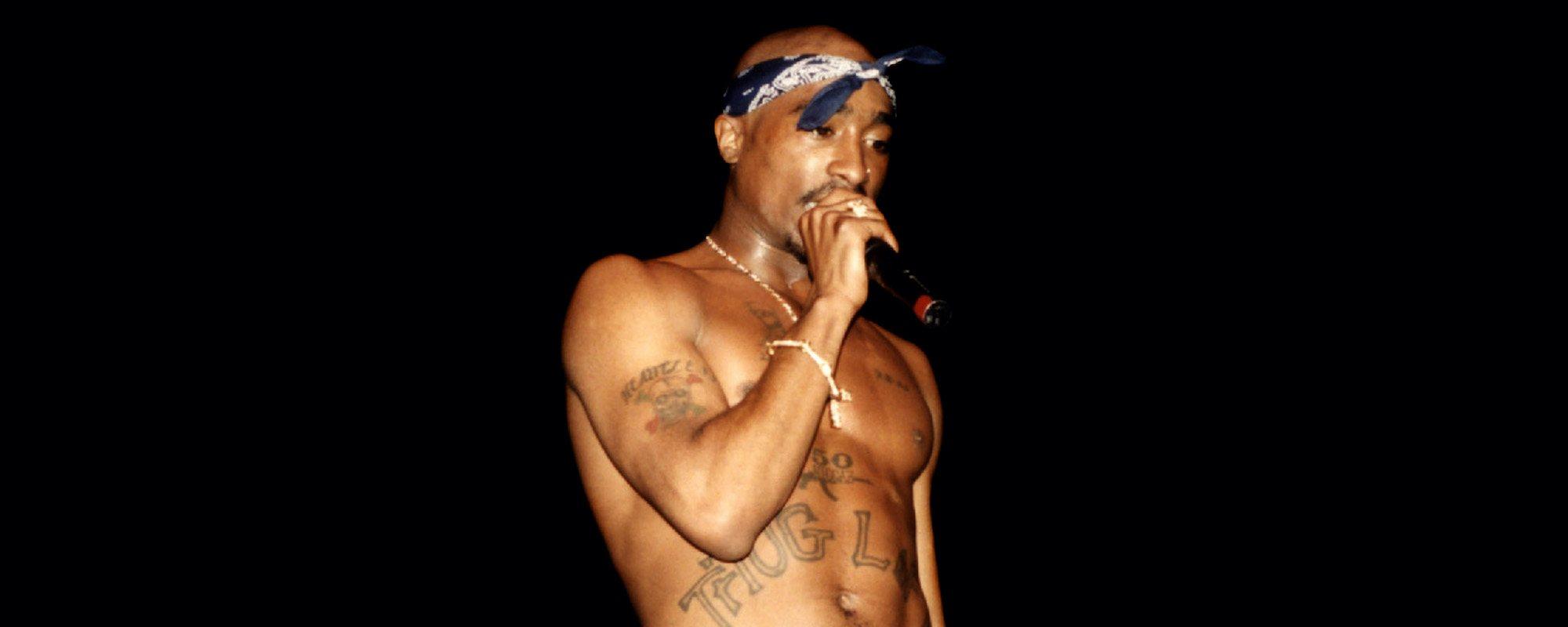 Tupac Shakur Performing Shirtless