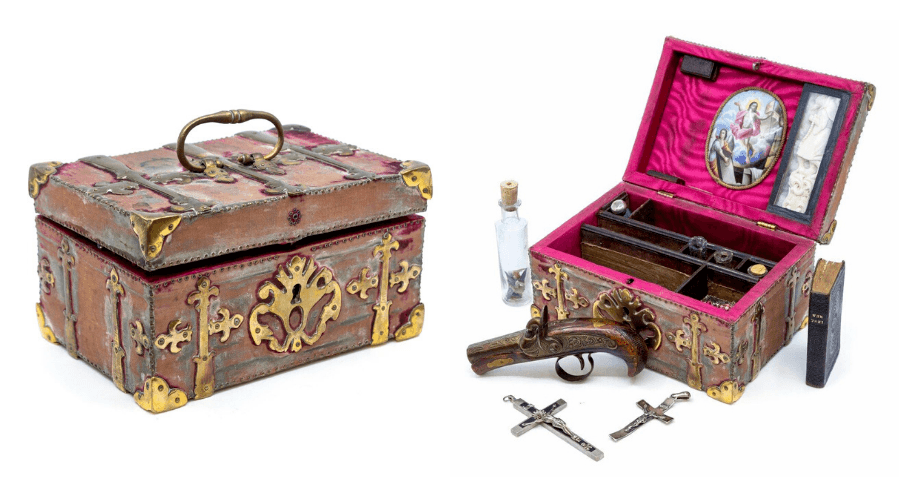 Victorian Vampire-Slaying Kit Goes Up For Auction Complete With Crucifixes, A Blade, And Shark Teeth