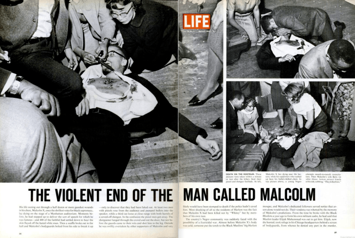 Yuri Kochiyama At Malcolm X Assassination