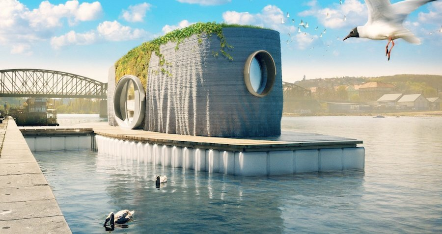 This 3D-Printed House Floats On Water And Only Took 48 Hours To Build