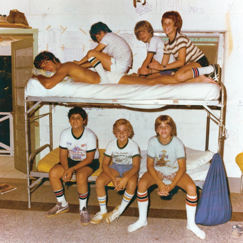 Boys And Bunk Beds In American Summer Camp