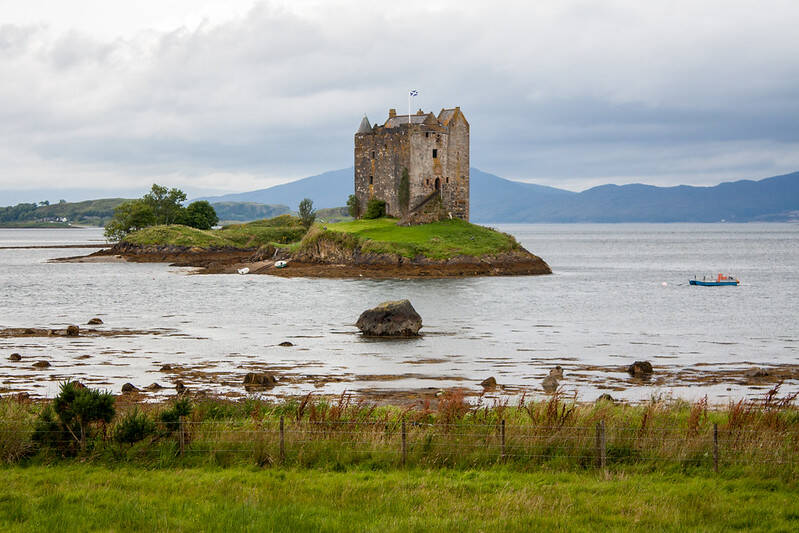 Castle Stalker From The Mainland