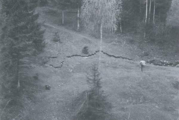 Crack In Vajont Mountain