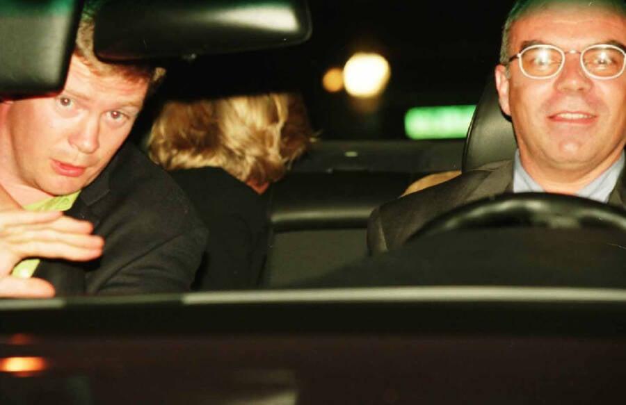 Princess Diana Inside A Car