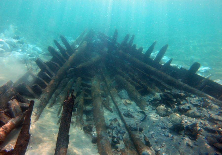Hull Of Byzantine Shipwreck In Israel