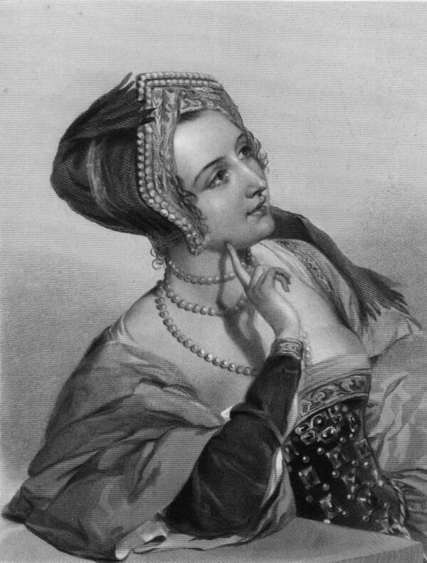Illustration Of Queen Anne Boleyn