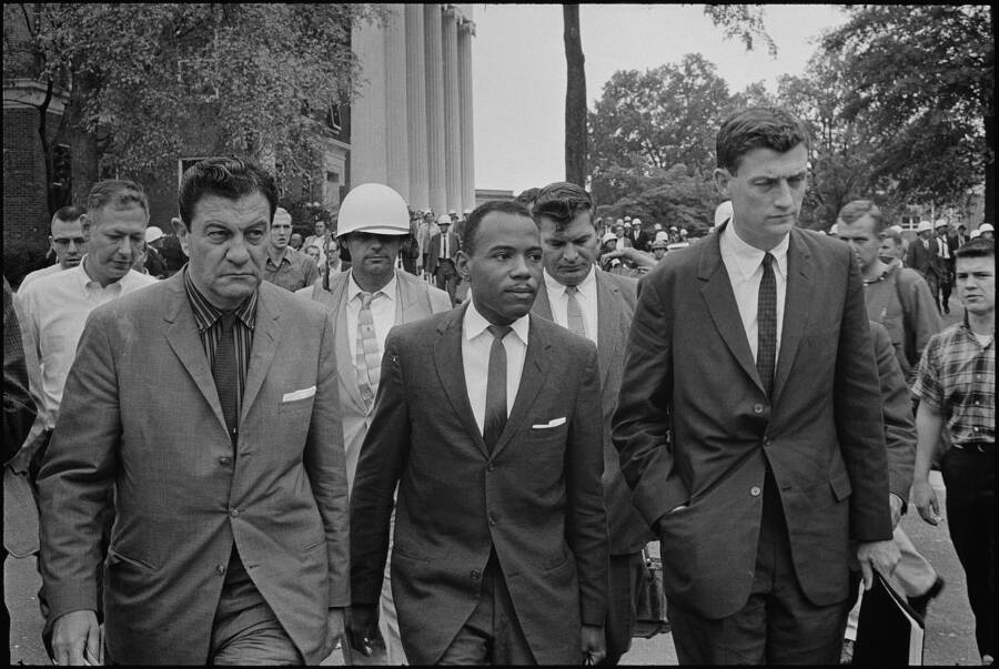 James Meredith With Marshals