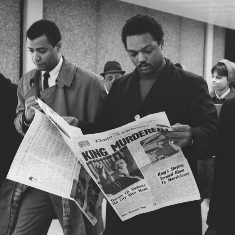 Jesse Jackson Reading King Assassination Headlines