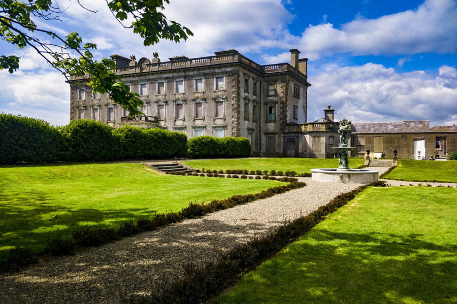 Courtyard Of Haunted Irish Estate