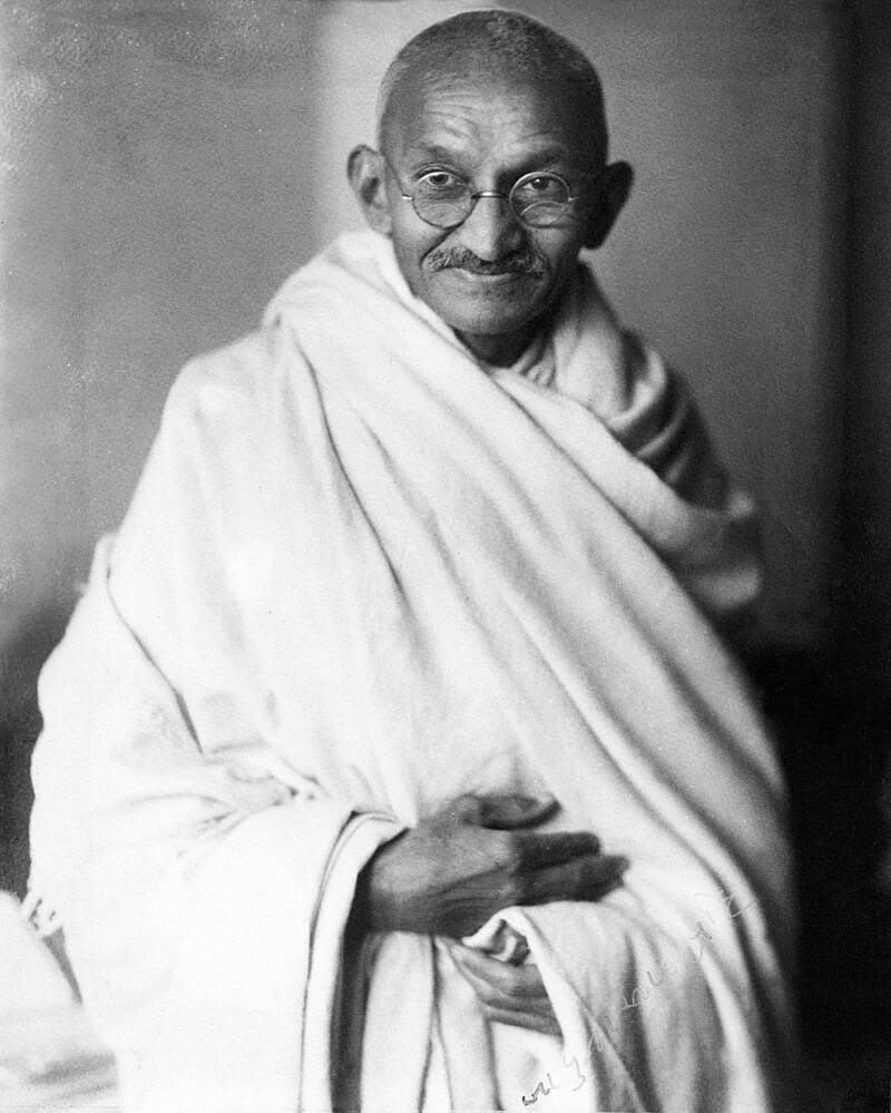 Mahatma Gandhi Wearing Glasses In London