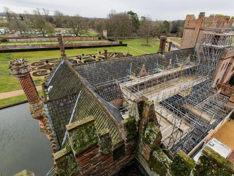Oxburgh Hall From Above