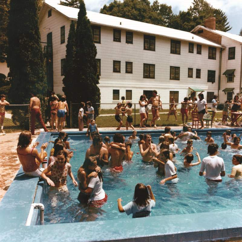 Pool Party At 1970s Summer Camp