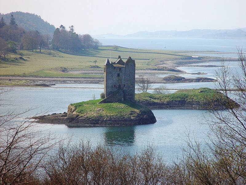 Side View Of Castle Stalker