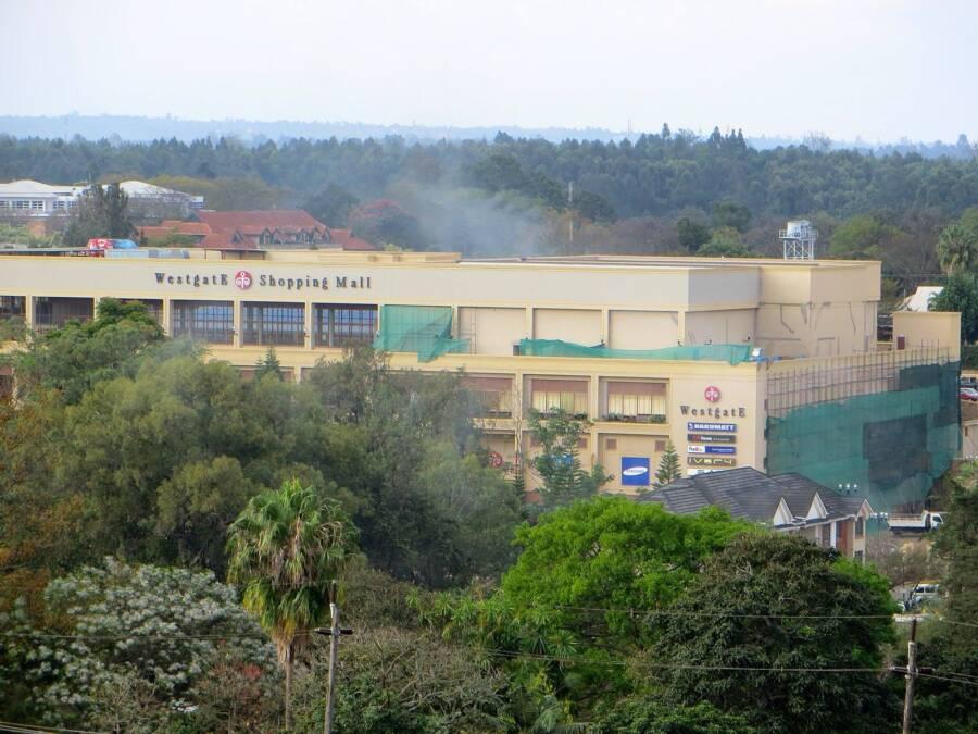 Smoke Above Westgate Shopping Mall
