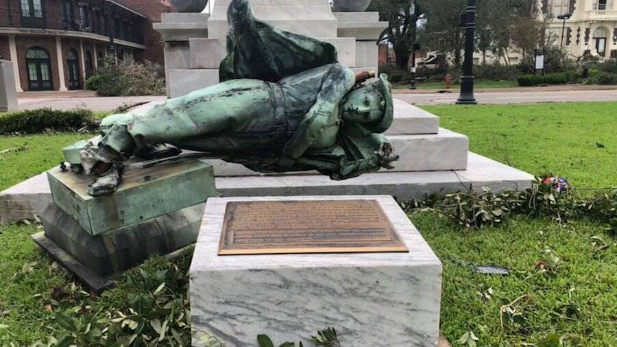 Souths Defenders Statue Toppled