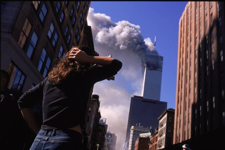 Burning Twin Towers
