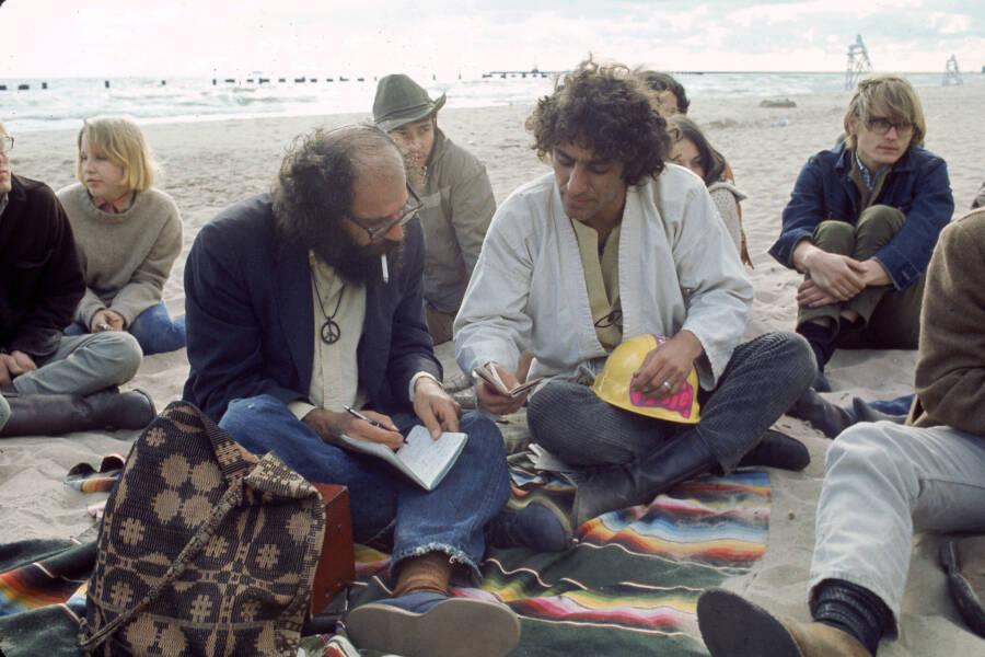 Abbie Hoffman And Allen Ginsberg