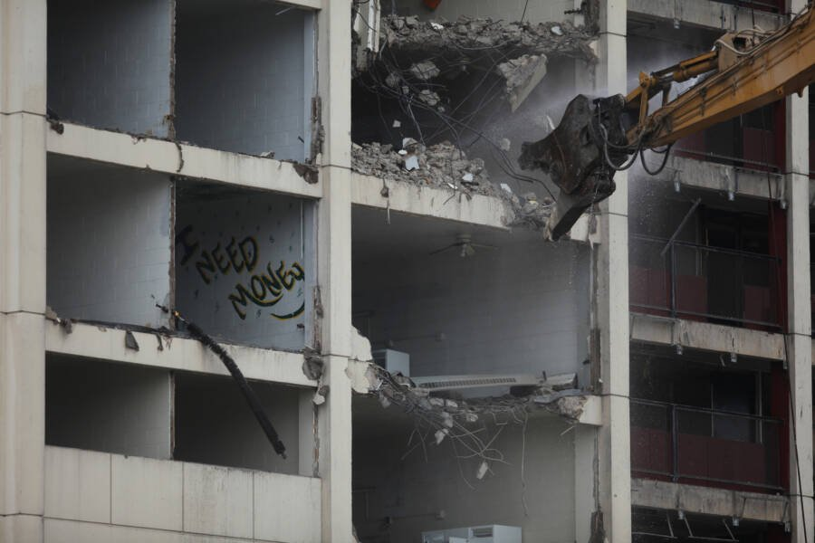 Cabrini Green Building Being Demolished