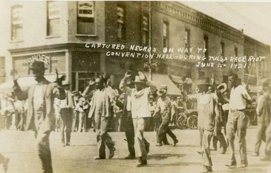 Captured Black Residents In Tulsa Riot