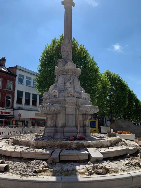 David Fountain During Renovation