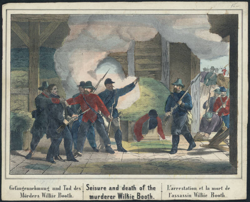 Illustration of the Death of John Wilkes Booth