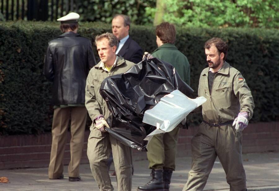 Detlev Rohwedder Murder Scene And Plastic Chair