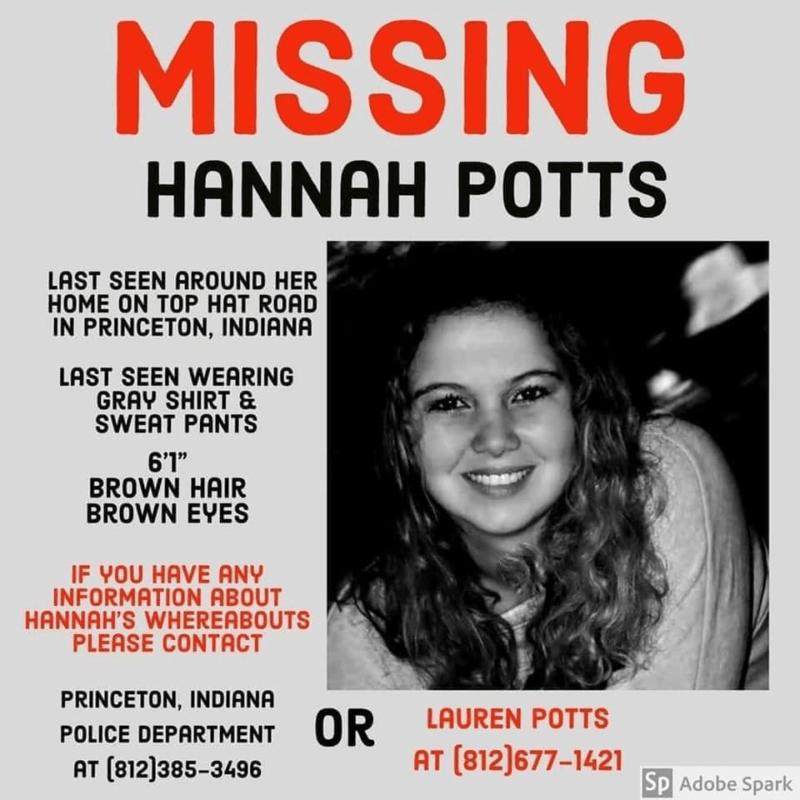 Hannah Potts Missing Flyer