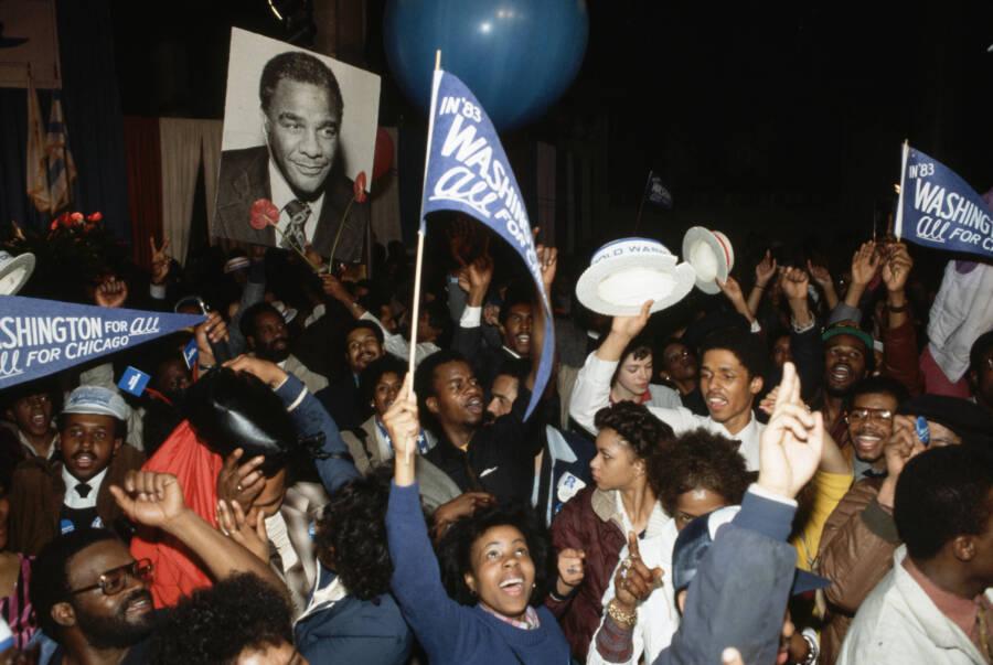 Harold Washington Victory Rally