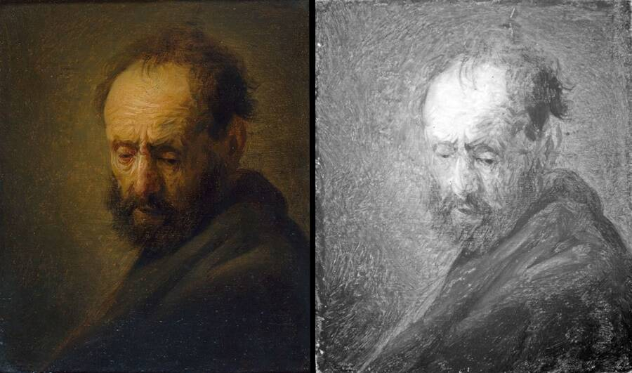 Infrared Comparison Of Painting