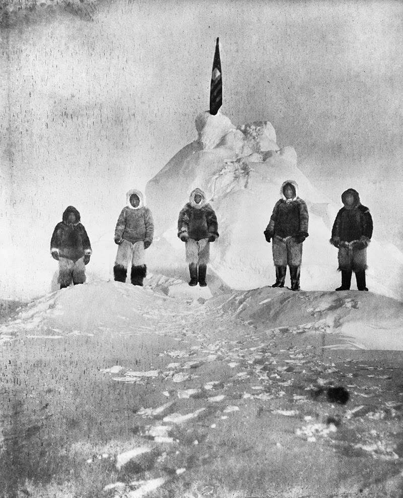Matthew Henson And Inuit Guides
