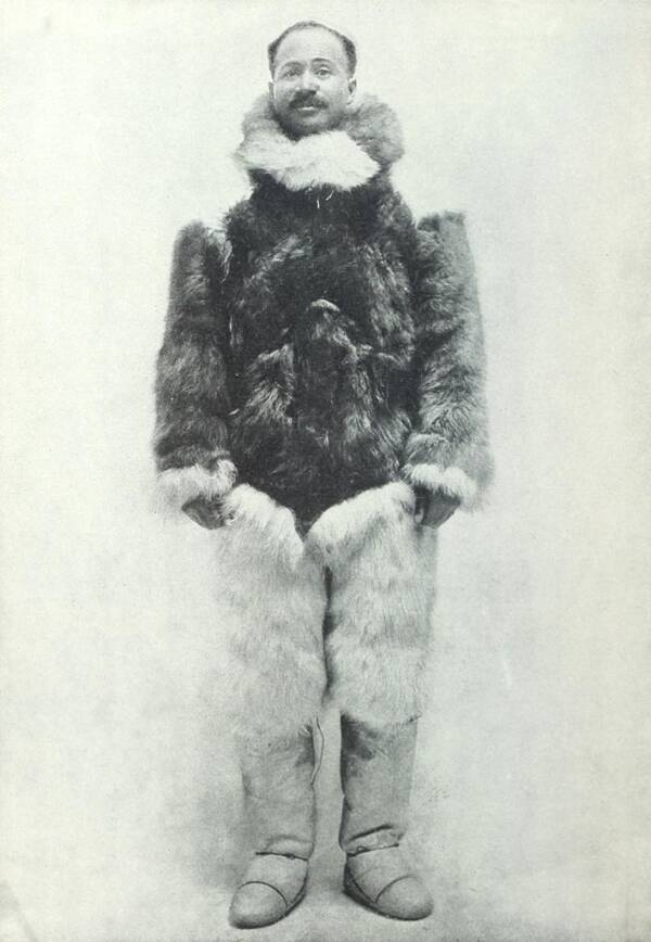 Matthew Henson In Fur Getup