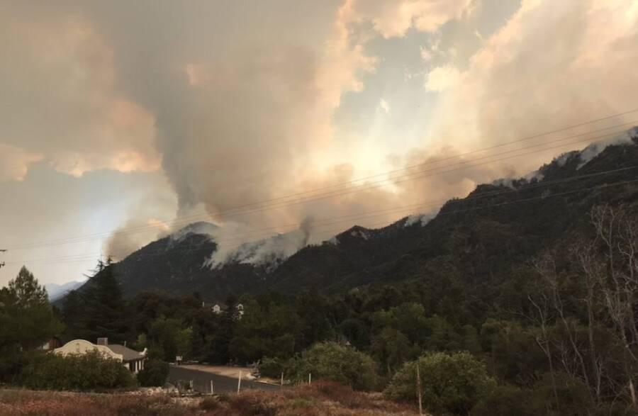 Mountains And The El Dorado Fire