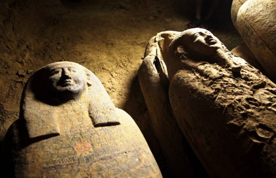 Pair Of Egyptian Coffins