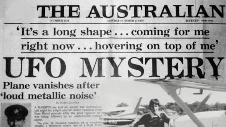The Australian Headline About Frederick Valentich