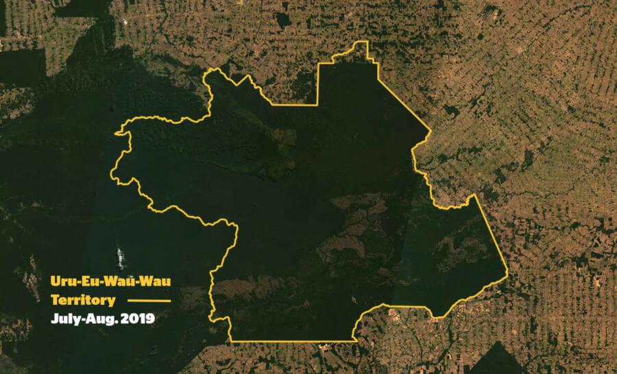 Uru Eu Wau Wau Territory Map