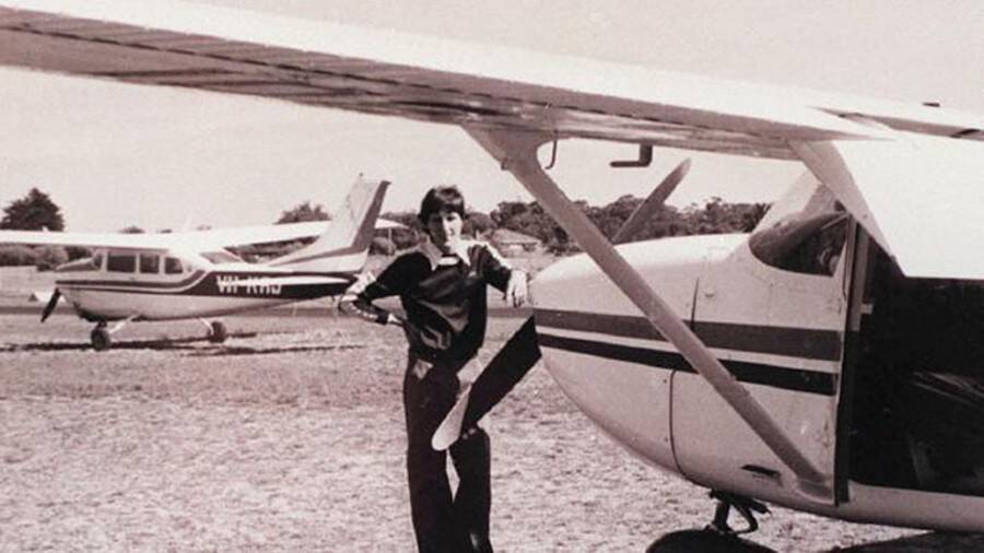 Young Frederick Valentich With His Airplane