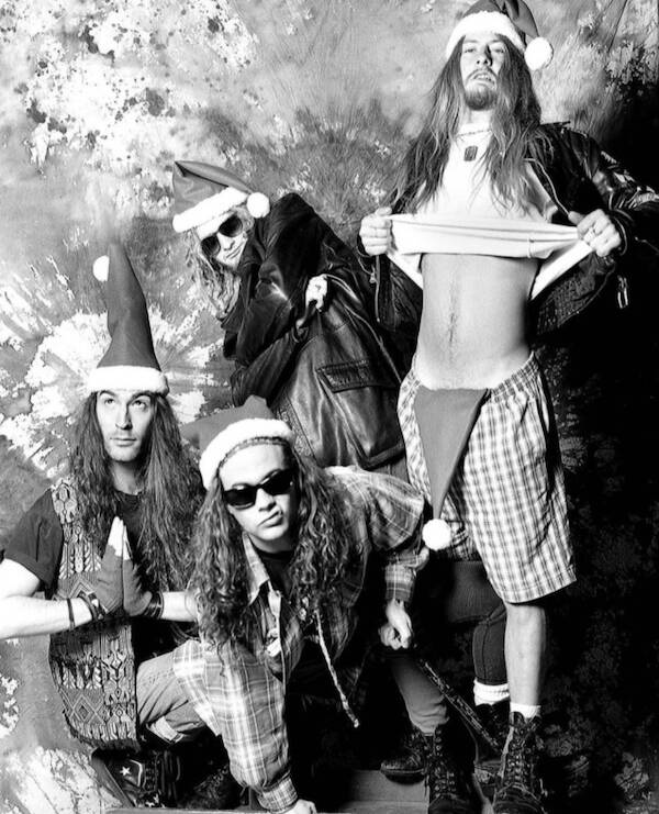 Alice In Chains Posing For Christmas