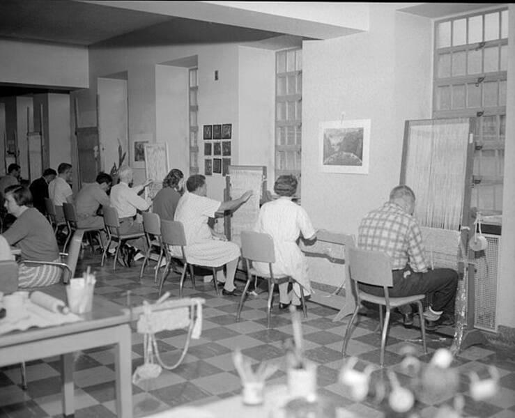 Asylum Patients In Art Class