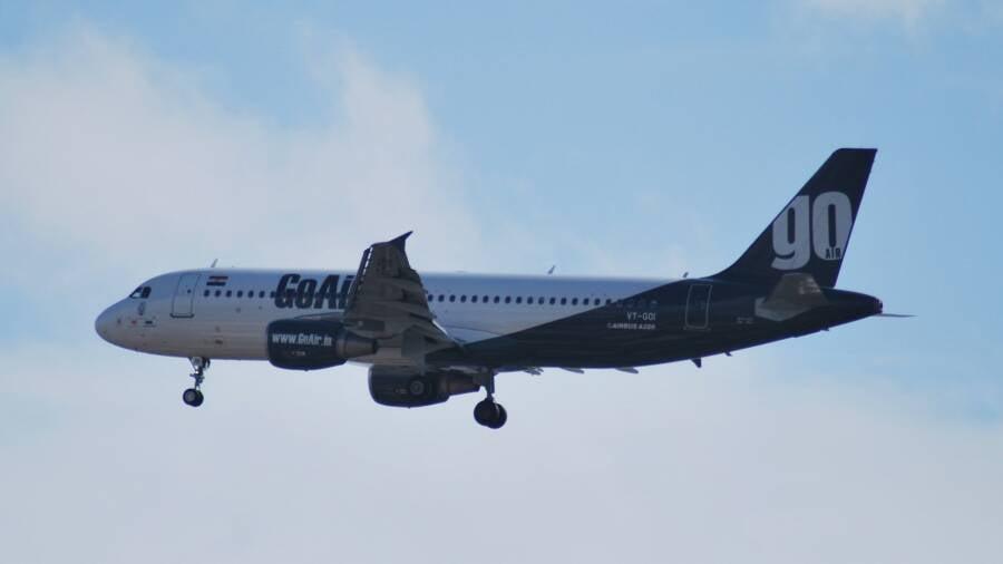Goair Airplane In Flight