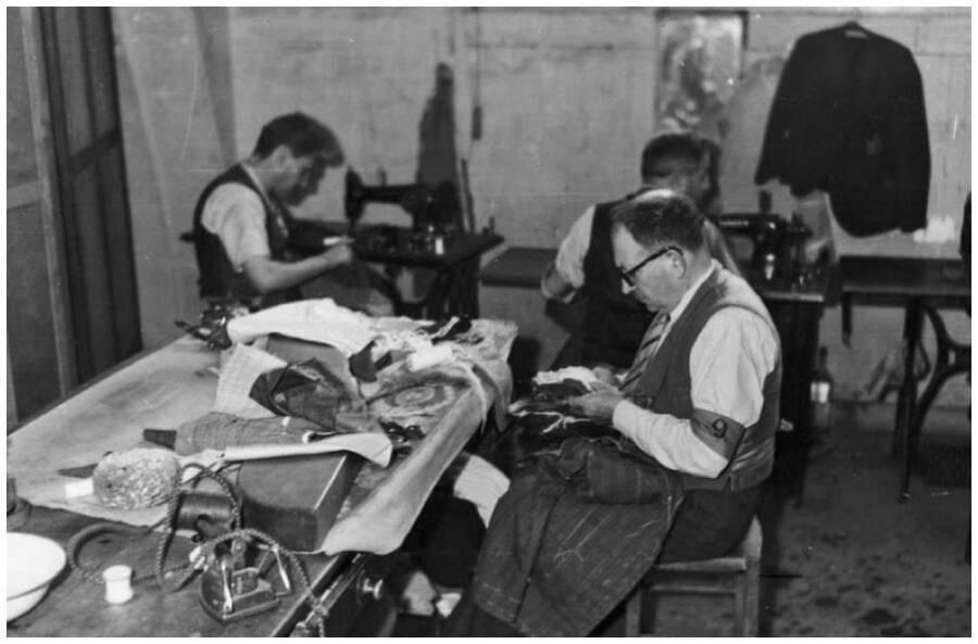 Jewish Prisoners Repairing Objects