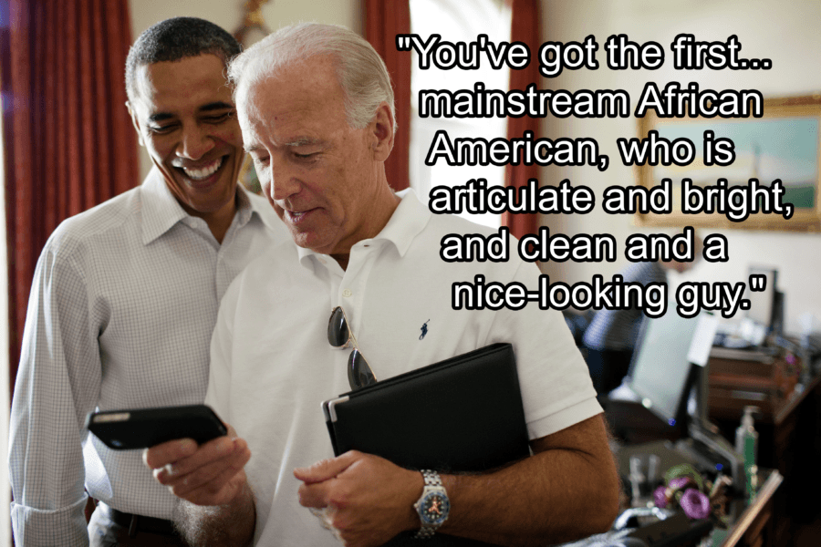 Joe Biden About Clean African Americans