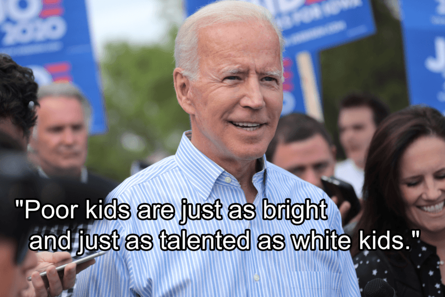 Joe Biden About Poor Kids