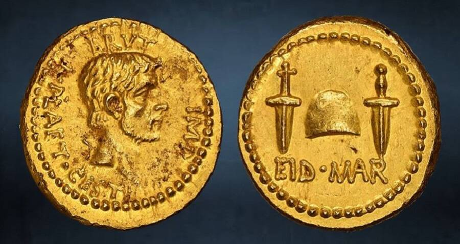 Experts Uncover A 2,000-Year-Old Coin That Julius Caesar's Killers Minted To Celebrate His Death