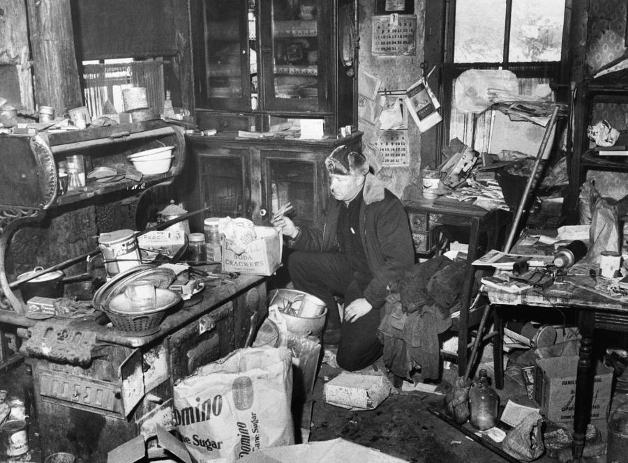Police Searching Ed Gein's House