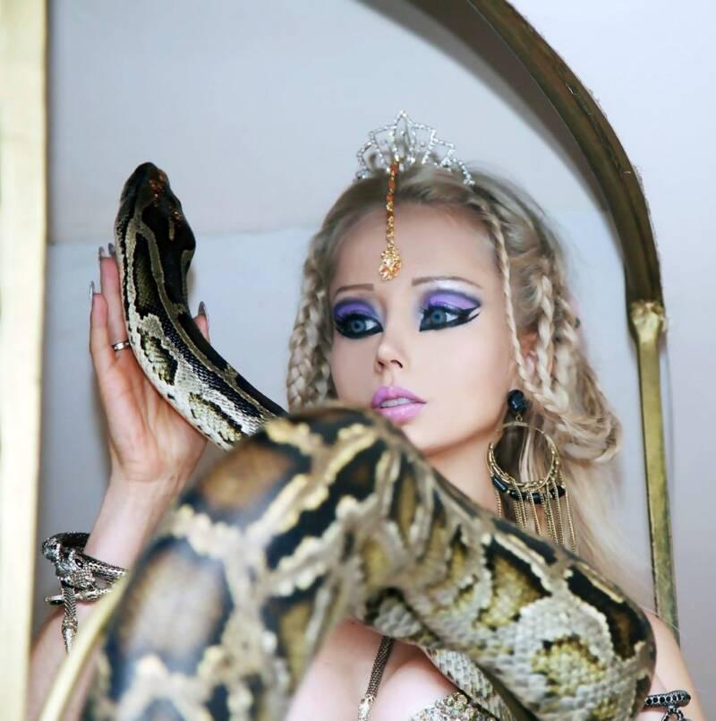 Valeria Lukyanova With A Snake