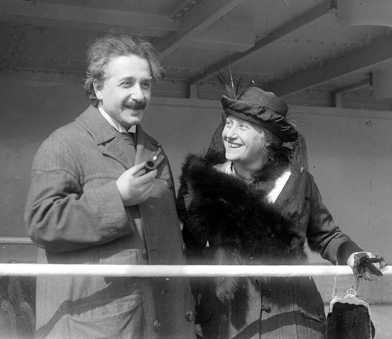 Albert Einstein And Elsa Einstein