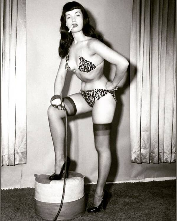 Bettie Page With A Whip