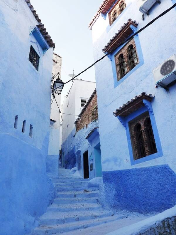 Blue Alley At Chefchaouen